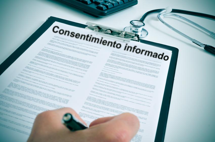 El consentimiento informado siempre debe ir por escrito